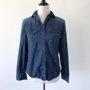 J. Crew Chambray Star Button Up Long Sleeve